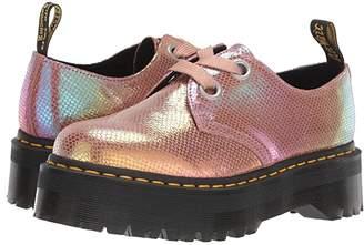 Dr. Martens Holly Quad Retro (Pink Iridescent Texture) Women's Shoes