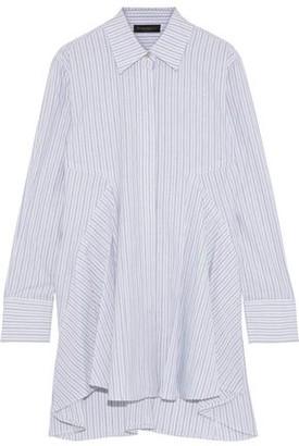 Donna Karan Striped Cotton-jacquard Shirt
