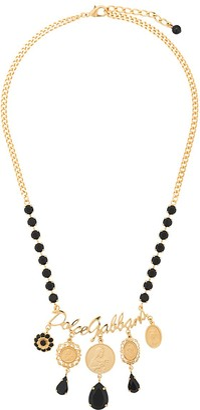 Dolce & Gabbana Votive Motif Medallion Necklace