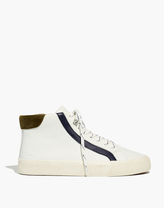 Madewell Sidewalk High-Top Sneakers in Colorblock Leather