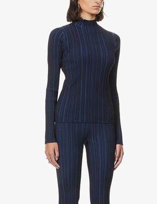 Acne Studios Katina high-neck cotton-knit jumper