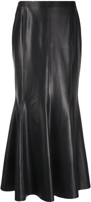 Nanushka Vegan Leather Maxi-Skirt