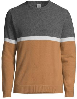 Eleventy Modern-Fit Colorblock Wool & Cashmere Sweater