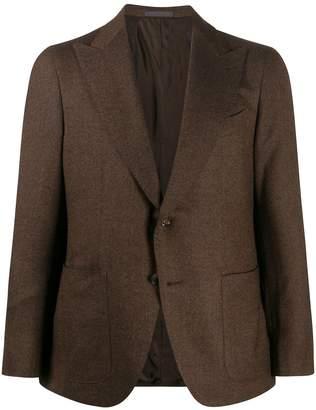 Caruso mottled knit blazer