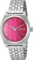 Nixon Women's A11301972-00 Medium Time Teller Analog Display Quartz Silver Watch