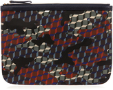 Pierre Hardy Camocube-print canvas pouch