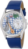 Whimsical Watches Women's S0630009 Chef Royal Blue Leather Watch