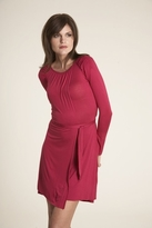 Velvet Khali Dress in Cherry