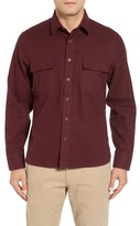 John W. Nordstrom Regular Fit Military Flannel Shirt