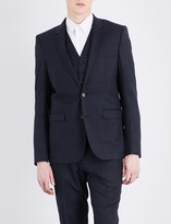 Sandro Prince of Wales check-print tailored-fit wool jacket