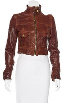 Dolce & Gabbana Leather Cropped Jacket