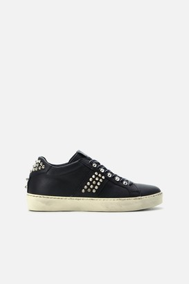 Leather Crown Iconic Stud Low Top Sneakers
