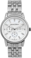 Journee Collection Womens Crystal-Accent Stainless Steel Bracelet Watch