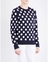Michael Kors Polka Dot-print Wool Jumper