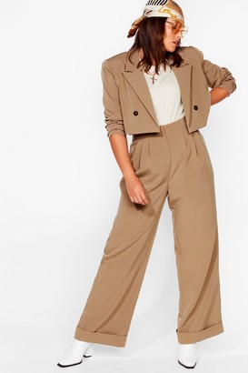 Nasty Gal Womens Woman's World Plus Wide-Leg Pants - Khaki