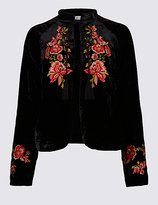 Per Una Drawstring Floral Embroidered Jacket