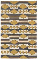 Tribeca Flatweave Mustard Wool Rug (2' x 3')
