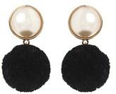 Amrita Singh Glass Pearl Pom Pom Earrings.