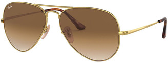 Ray-Ban Gradient Metal Aviator Sunglasses