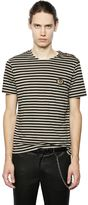 The Kooples Shoulder Buttons Striped Jersey T-Shirt