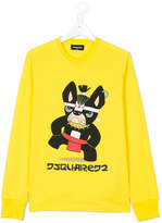 DSQUARED2 dog print top