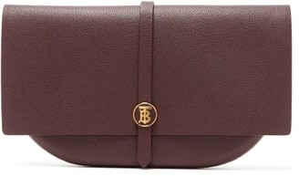 Burberry Tb-monogram Leather Clutch - Tan