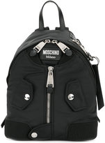 Moschino small zip front backpack - women - Cotton/Polyamide/Polyurethane - One Size
