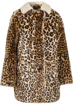 R 13 Faux Shearling-lined Leopard-print Faux Fur Coat