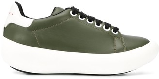 Marni Platform Leather Sneakers