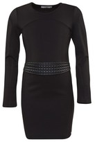 Supertrash Quilted Pleather Panel Dress