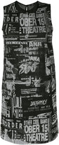 Diesel printed mesh effect dress - women - Cotton/Nylon/Polyester - S
