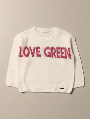 Liu Jo Wool Sweater With Love Green Writing