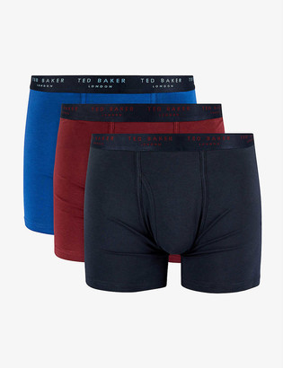 Ted Baker Zipeon stretch-cotton trunks set of three