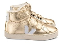 Veja Unisex Esplar Shearling Lined Metallic Leather High Top Sneakers - Toddler, Little Kid