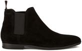 HUGO Men's Pariss Suede Chelsea Boots Black