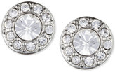 Givenchy Silver-Tone Small Crystal Pavé Stud Earrings