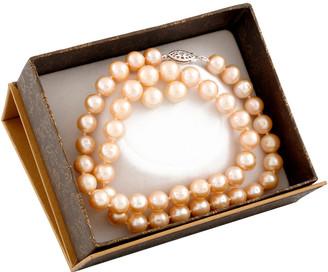Splendid Pearls Silver 8-8.5Mm Freshwater Pearl Necklace & Earrings Set