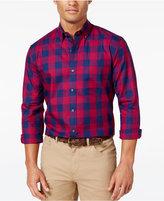 Club Room Men's Big and Tall Buffalo Plaid Long-Sleeve Shirt