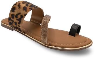 Sugar Dawson Embellished Women's Toe-Ring Sandals