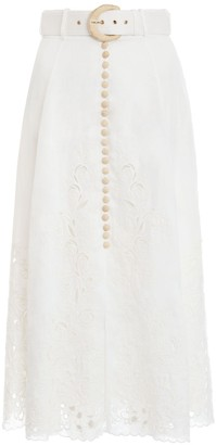 Zimmermann Peggy Embroidered Skirt