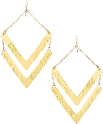 Devon Leigh Double-Wedge Chandelier Earrings