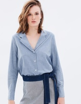 Denim Chambray Pyjama Shirt