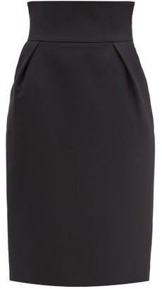 Alexandre Vauthier High-rise Wool-crepe Pencil Skirt - Black