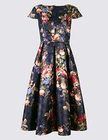 Per Una Rose Jacquard Print Skater Midi Dress