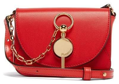 J.W.Anderson Nano Keyts Leather Cross Body Bag - Womens - Red