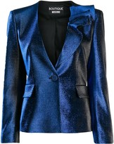 Moschino metallic-effect fitted jacket