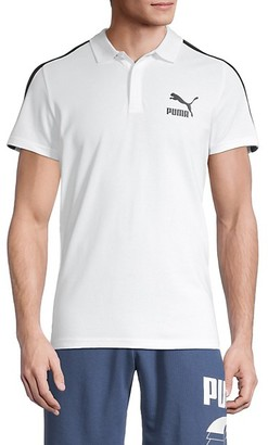 Puma Contrast Striped Stretch-Cotton Polo