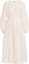 Three Graces London Valeraine Striped Linen Maxi Dress