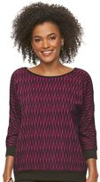 Dana Buchman Women's Jacquard Dolman Sweater