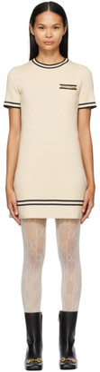 Gucci Off-White Wool Horsebit Dress